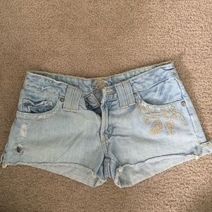Lilu low rise embroidered shorts SZ 5